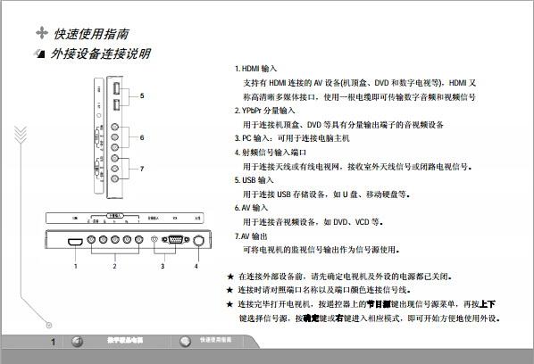 海尔LED42B1000C液晶彩电使用说明书
