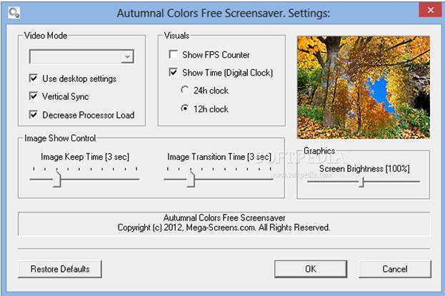 Autumnal Colors Screensaver
