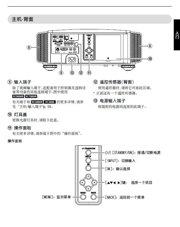 JVC DLA-XC3800投影机说明书