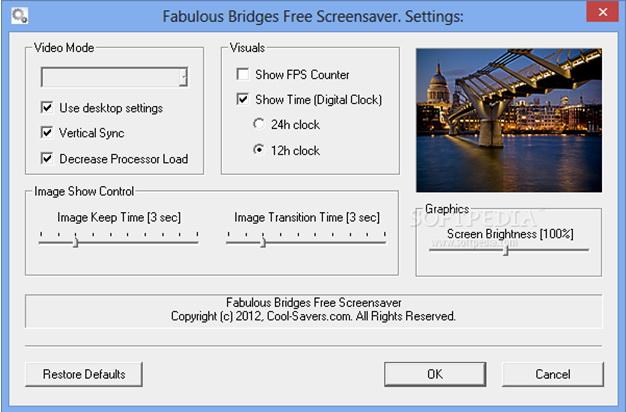 Cold Clock Screensaver