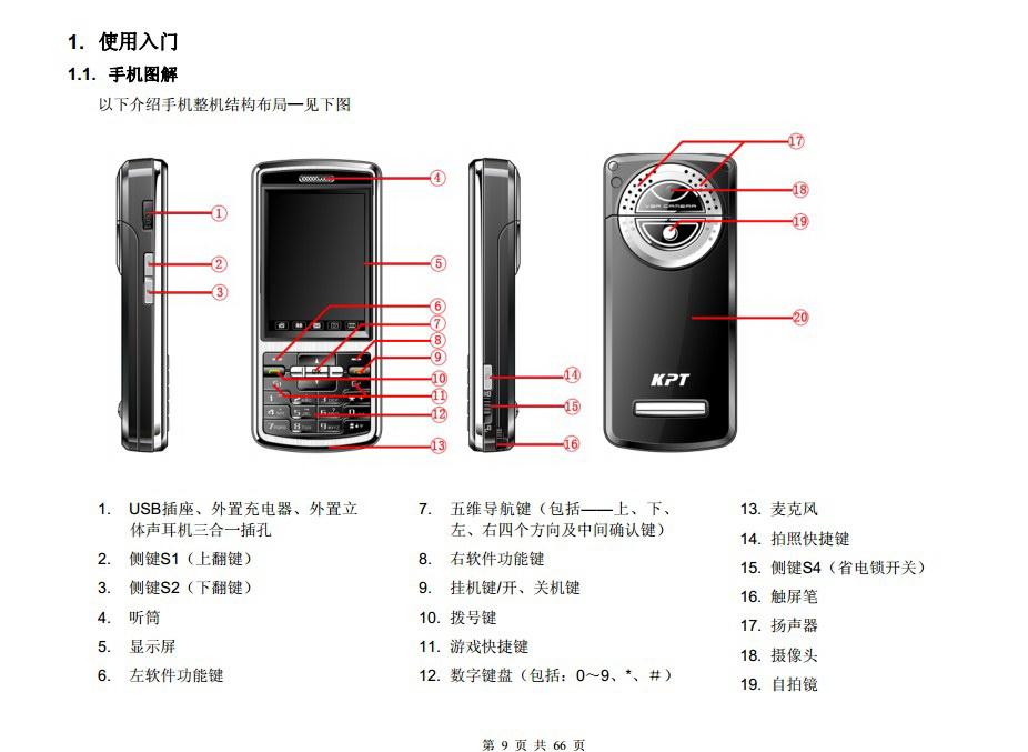 港利通手机KP162A型使用说明书