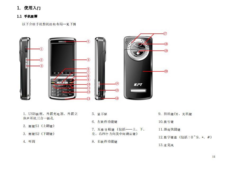 港利通手机KP162型使用说明书
