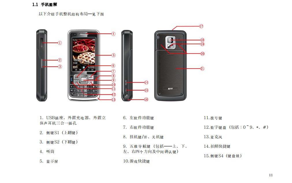 港利通手机KP161型使用说明书