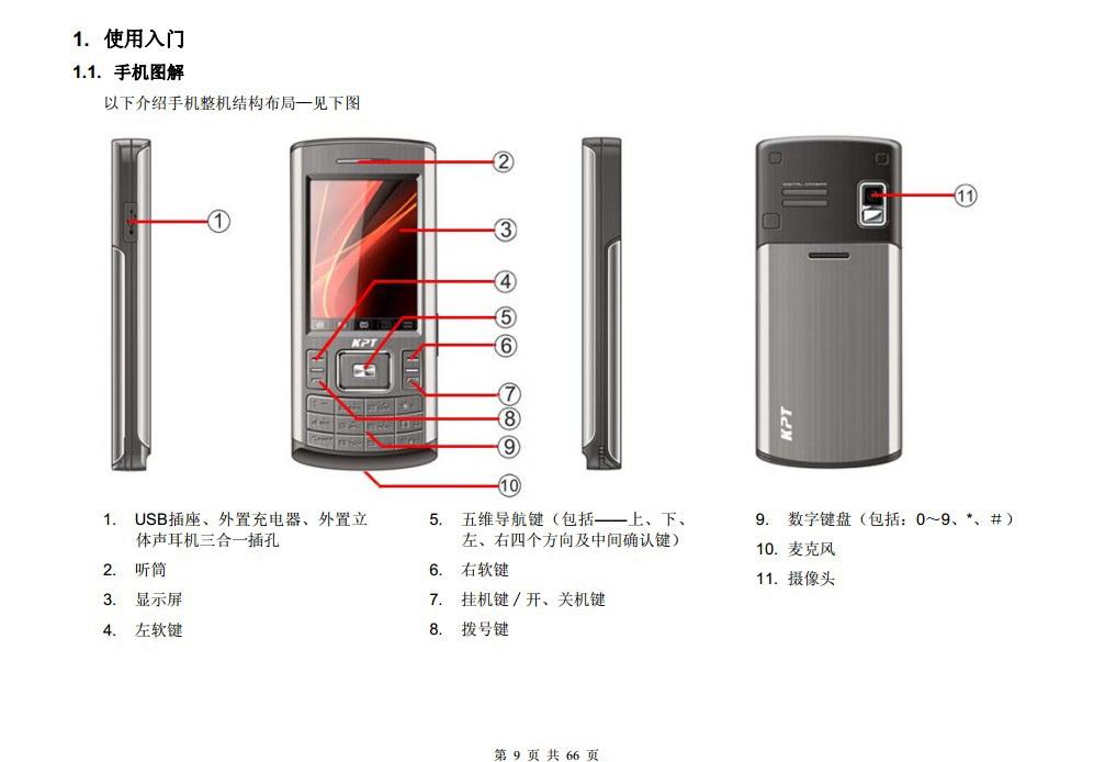 港利通手机K668型使用说明书