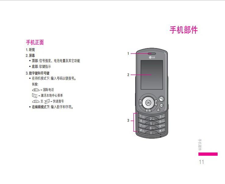 乐金手机KE608型使用说明书