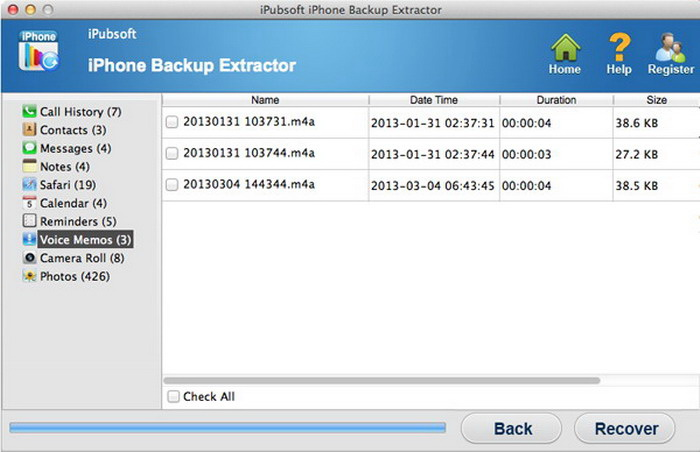 iPubsoft iPhone Backup Extractor for MAC