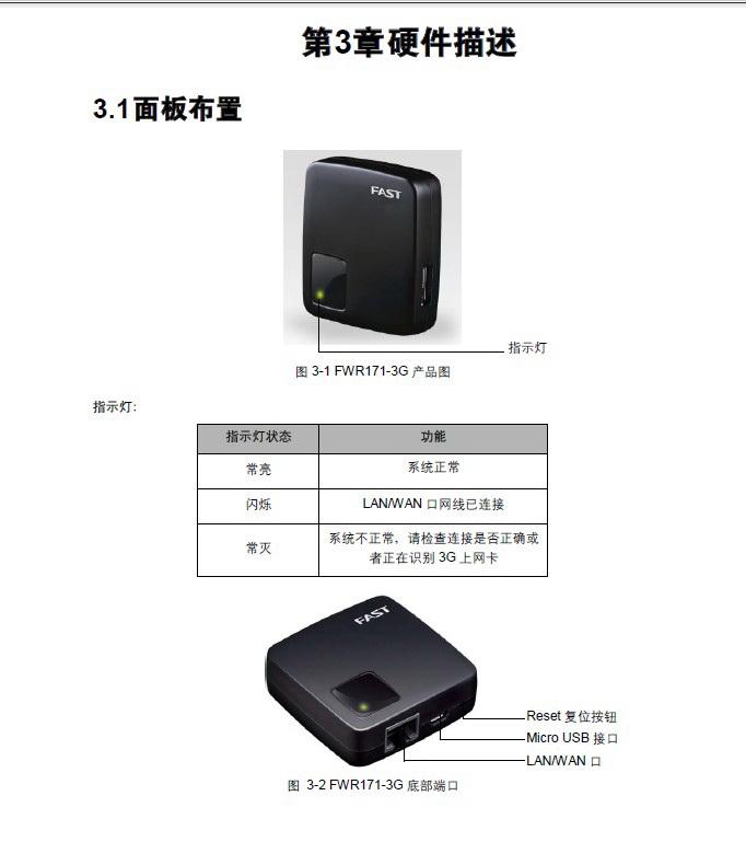 迅捷FWR171-3G无线路由器详细配置指南