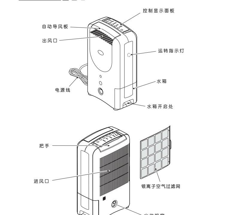 森井电气CH100D除湿机使用说明书