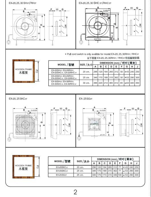 三菱EX-25SKC3T通风扇说明书