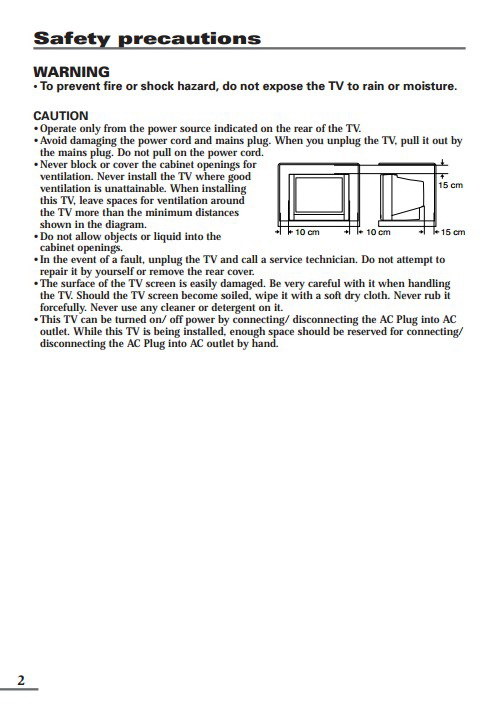JVC胜利AV-2108TE彩电使用手册