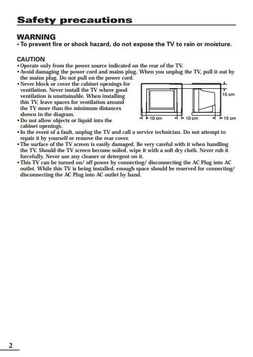 JVC胜利AV-2108CE彩电使用手册