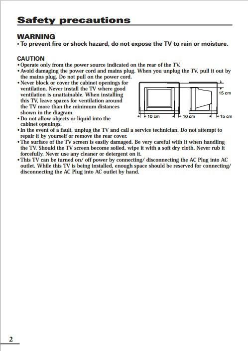 JVC胜利AV-2106WE彩电使用手册