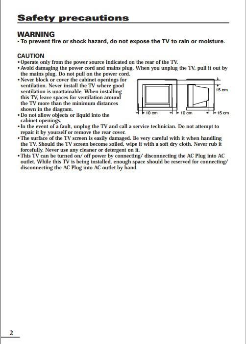 JVC胜利AV-1406FE彩电使用手册