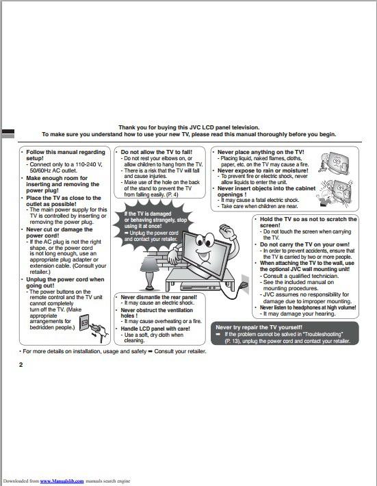 JVC胜利LT-32BX18液晶电视使用手册