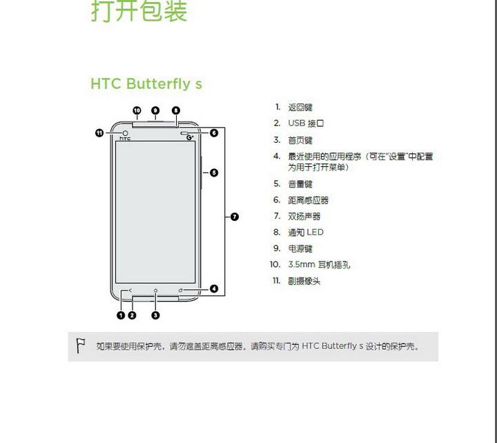 HTC多普达 Butterfly s(移动版)手机说明书