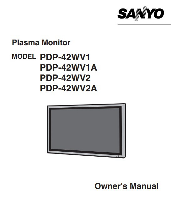 三洋PDP-42WV1A等离子彩电使用手册