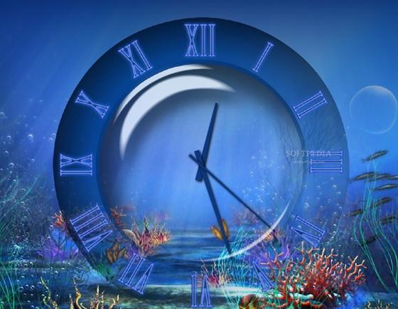 Aquatic Clock Screensaver