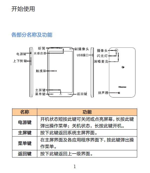 海信EG970手机说明书