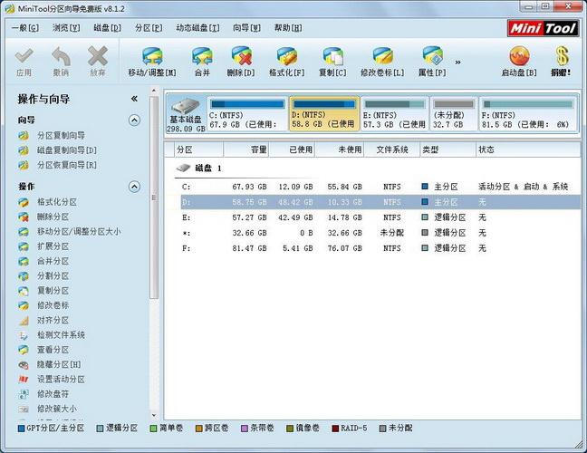 MiniTool分区向导免费版8.1.2