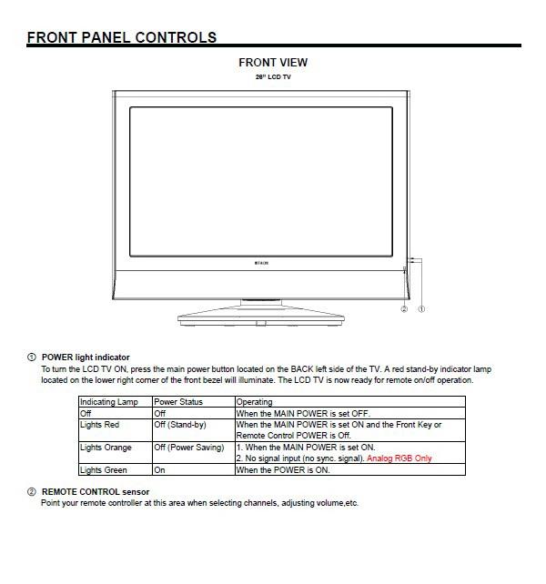 日立26HDL52液晶彩电使用手册