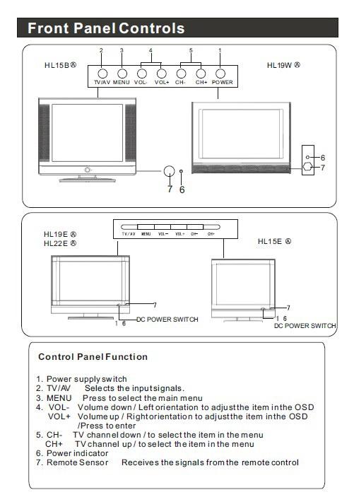 海尔HL22E液晶彩电使用手册