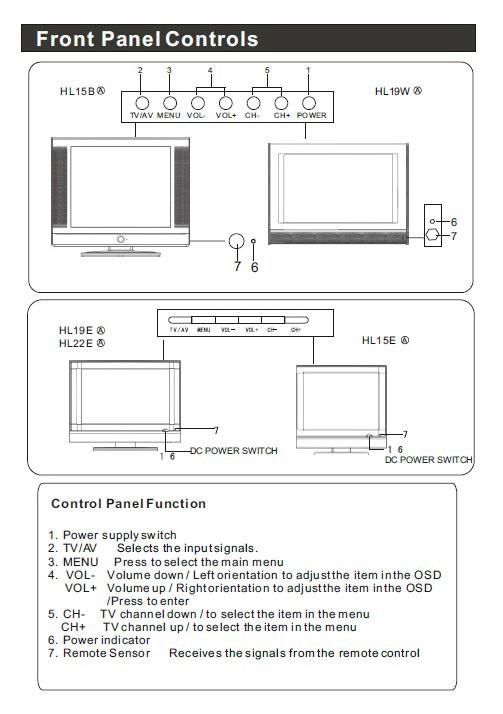 海尔HL19W液晶彩电使用手册