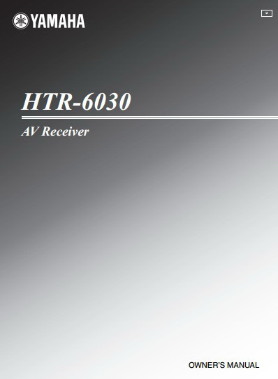 雅马哈HTR-6030声乐处理器说明书