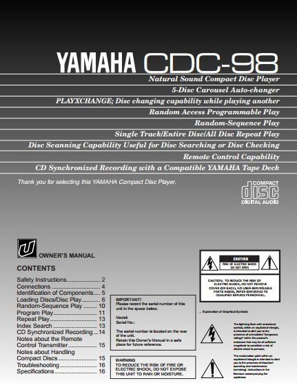 雅马哈CDC-98声乐处理器说明书