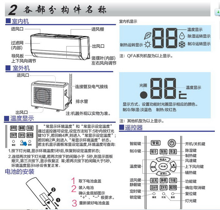 海尔KFR-26GW/09QEA23A(动感曲线)家用空调使用安装说明书