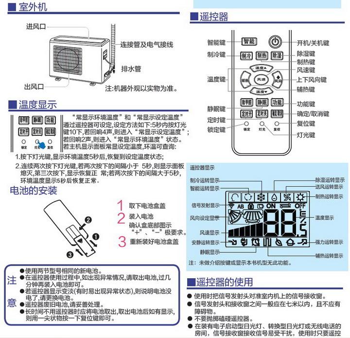 海尔kfr-35gw/09qda12(白)家用空调使用安装说明书