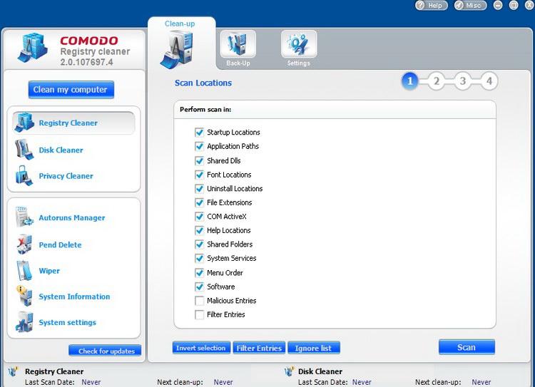 COMODO系统清理工具