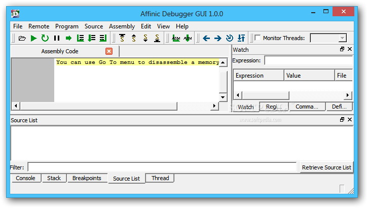 Affinic Debugger GUI For Mac
