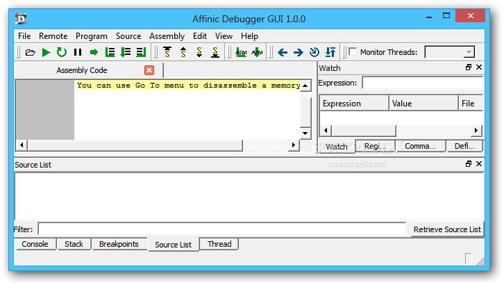 Affinic Debugger GUI For Linux