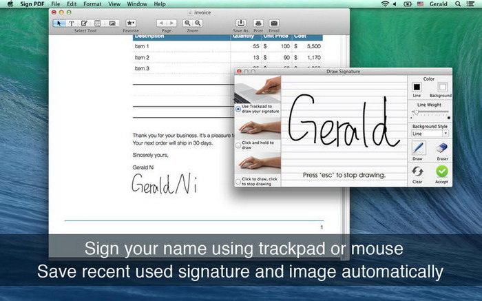 Sign PDF for Mac