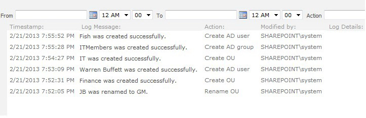 SHAREPOINT AD ADMINISTRATION