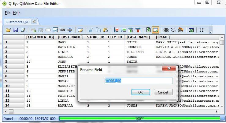 Q-Eye QVD/QVX files Editor (32 Bit)