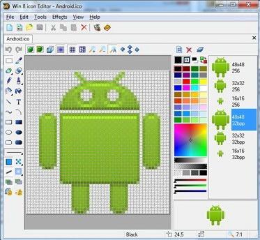 Win 8 Icon Editor