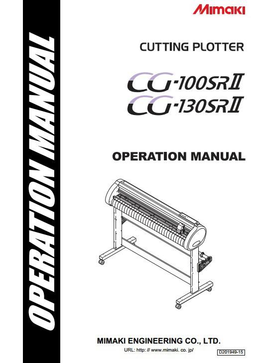 Mimaki CG-100SRII打印机说明书