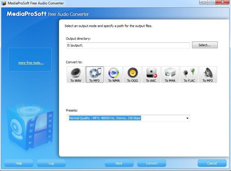 MediaProSoft Free Audio Converter
