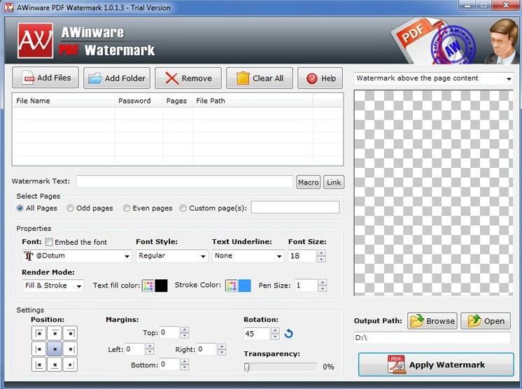 Acrobat PDF Watermark Software