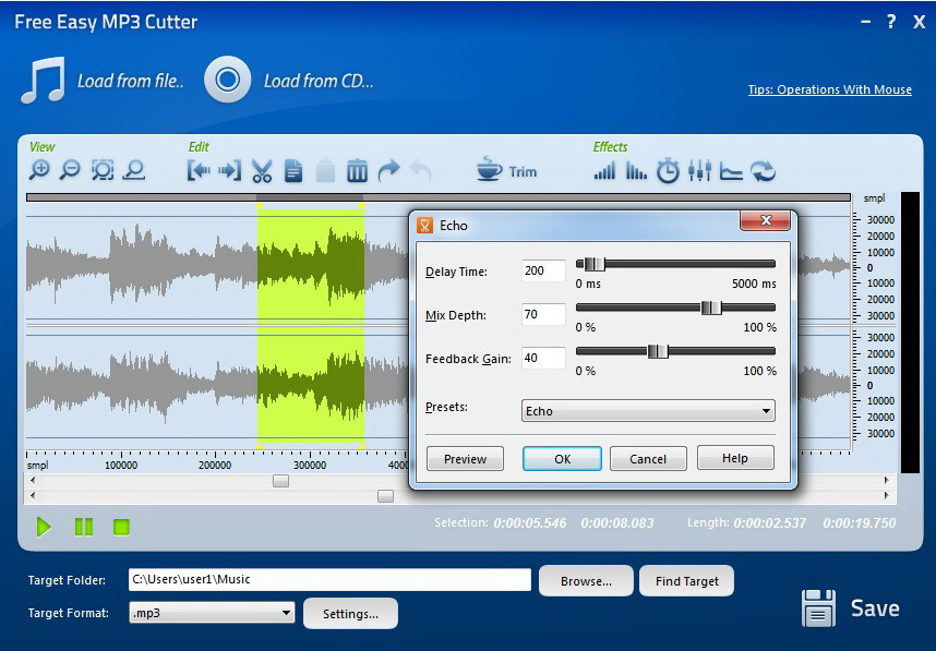 Free Easy MP3 Cutter