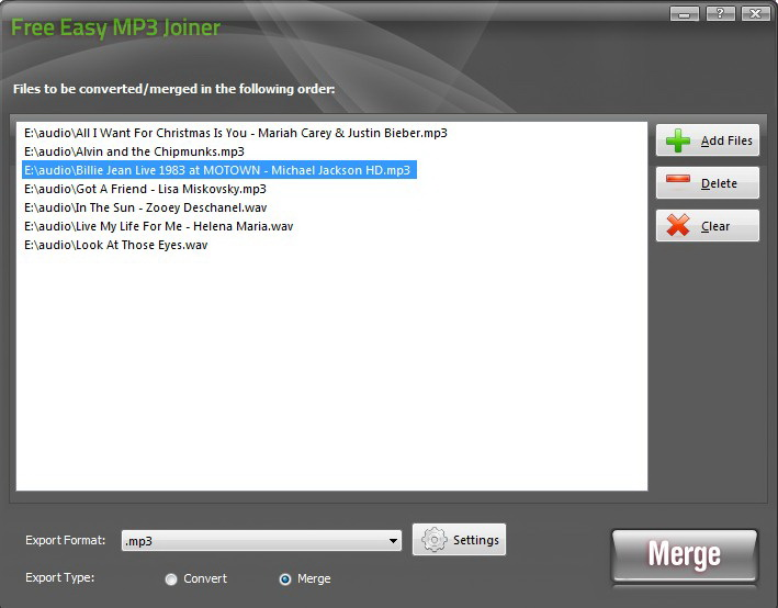 Free Easy MP3 Joiner