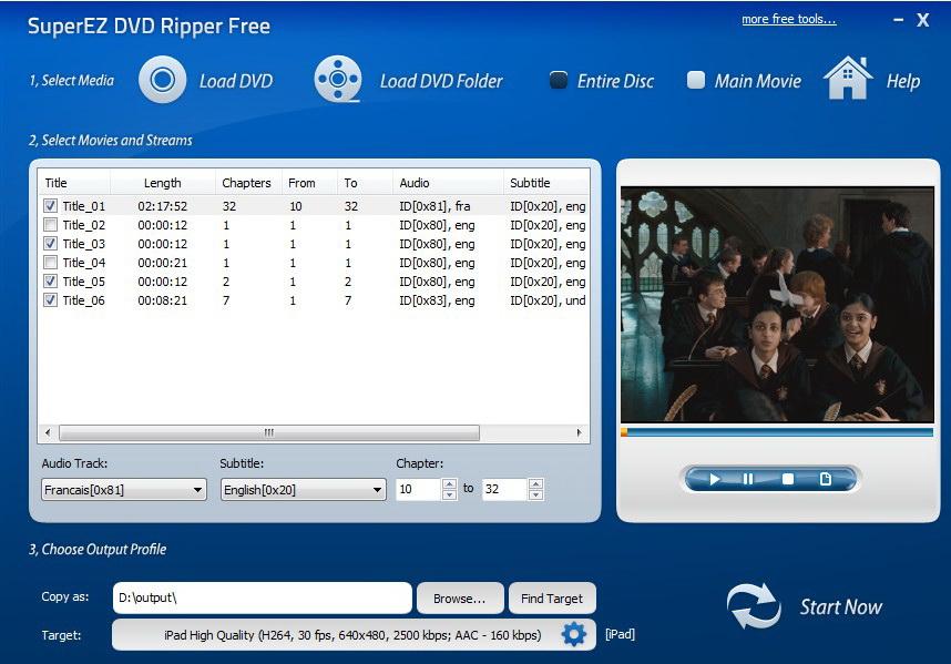 SuperEZ DVD Ripper Free