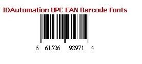 IDAutomation UPC/EAN Barcode Fonts