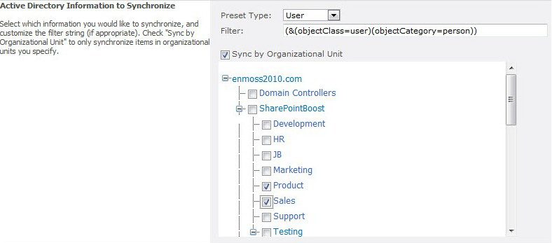SharePoint AD Information Sync