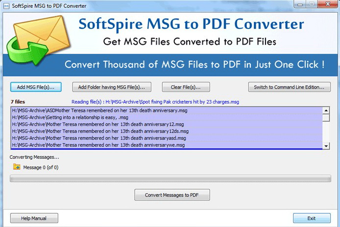 Migrate MSG to PDF
