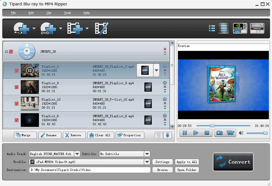 Tipard Blu-ray to MP4 Ripper