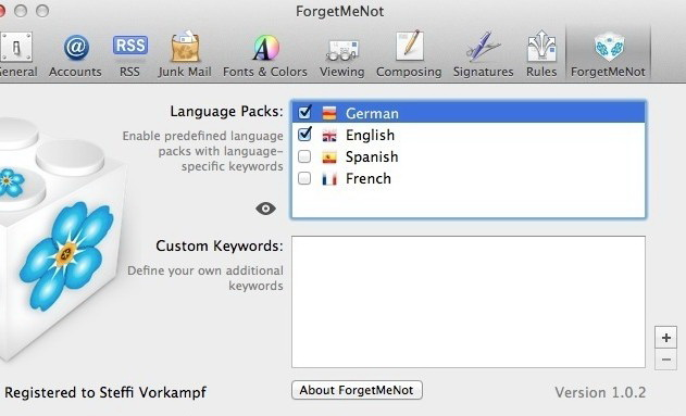 ForgetMeNot For Mac