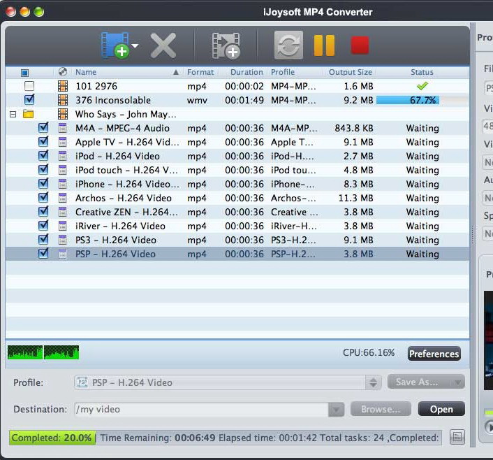 iJoysoft MP4 Converter for Mac