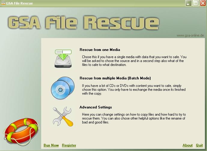 GSA File Rescue